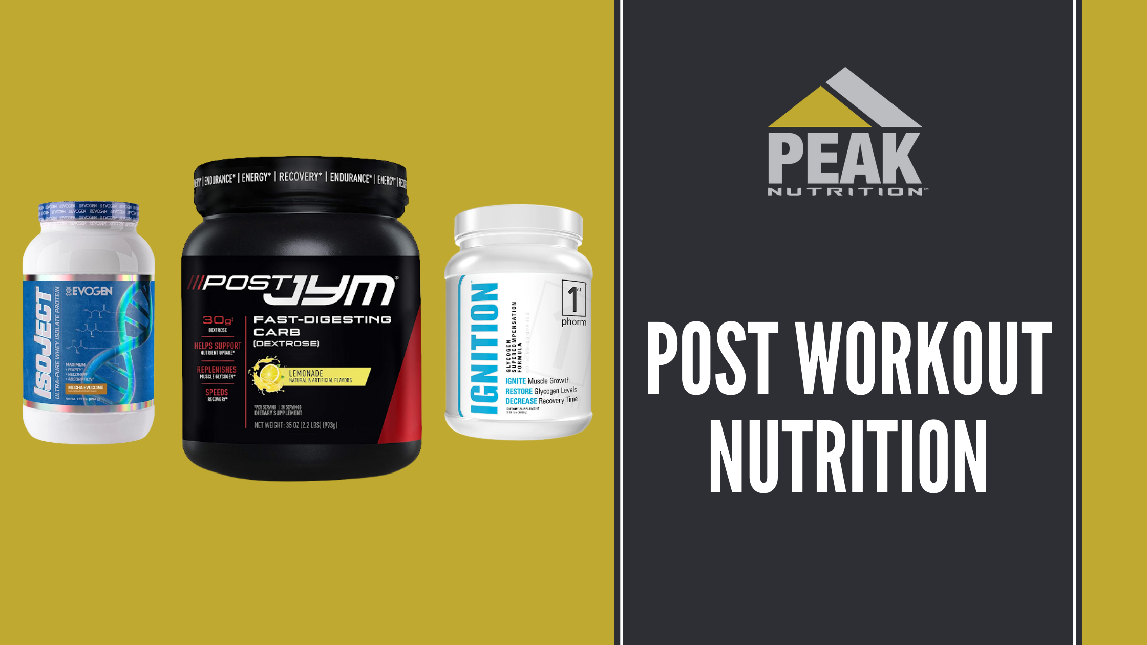 post workout glucose, carbs and protein peak nutrition