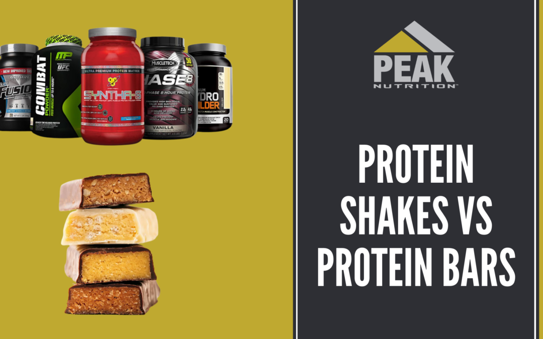 Protein Bars Vs Protein Shakes