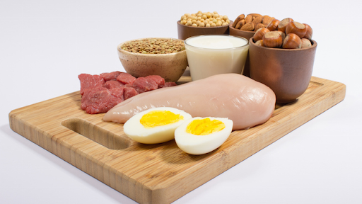 eggs, red meat and chicken that contain BCAAs
