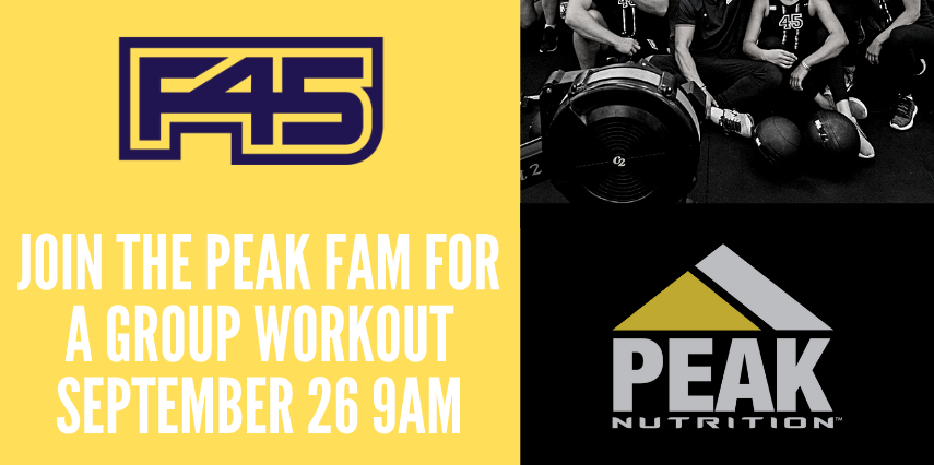You're Invited: Peak Nutrition September Event With F45 Chandler North